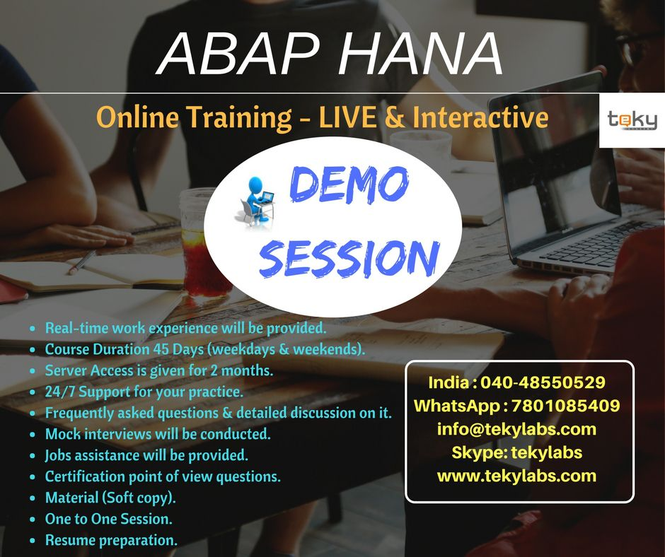 Pin by Teky Labs on SAP Online Training Work experience