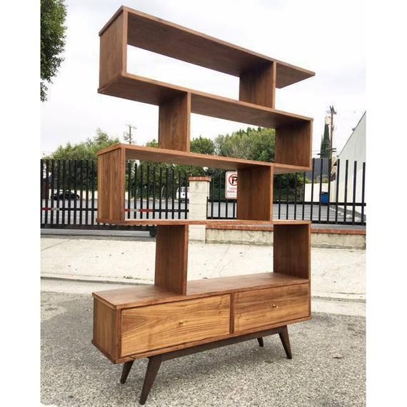 "46"" Mid Century Bookcase Wall-unit"