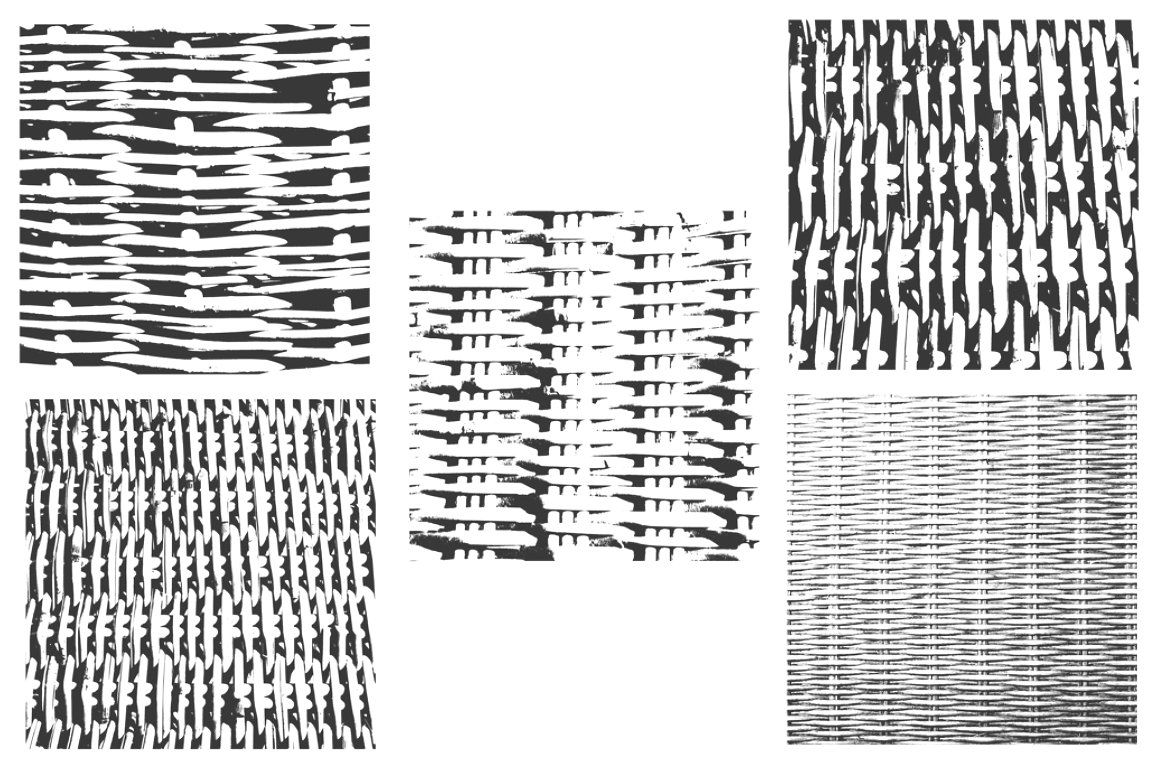 15 Wicker Brushes WickerBrushesAbstractHandcrafted