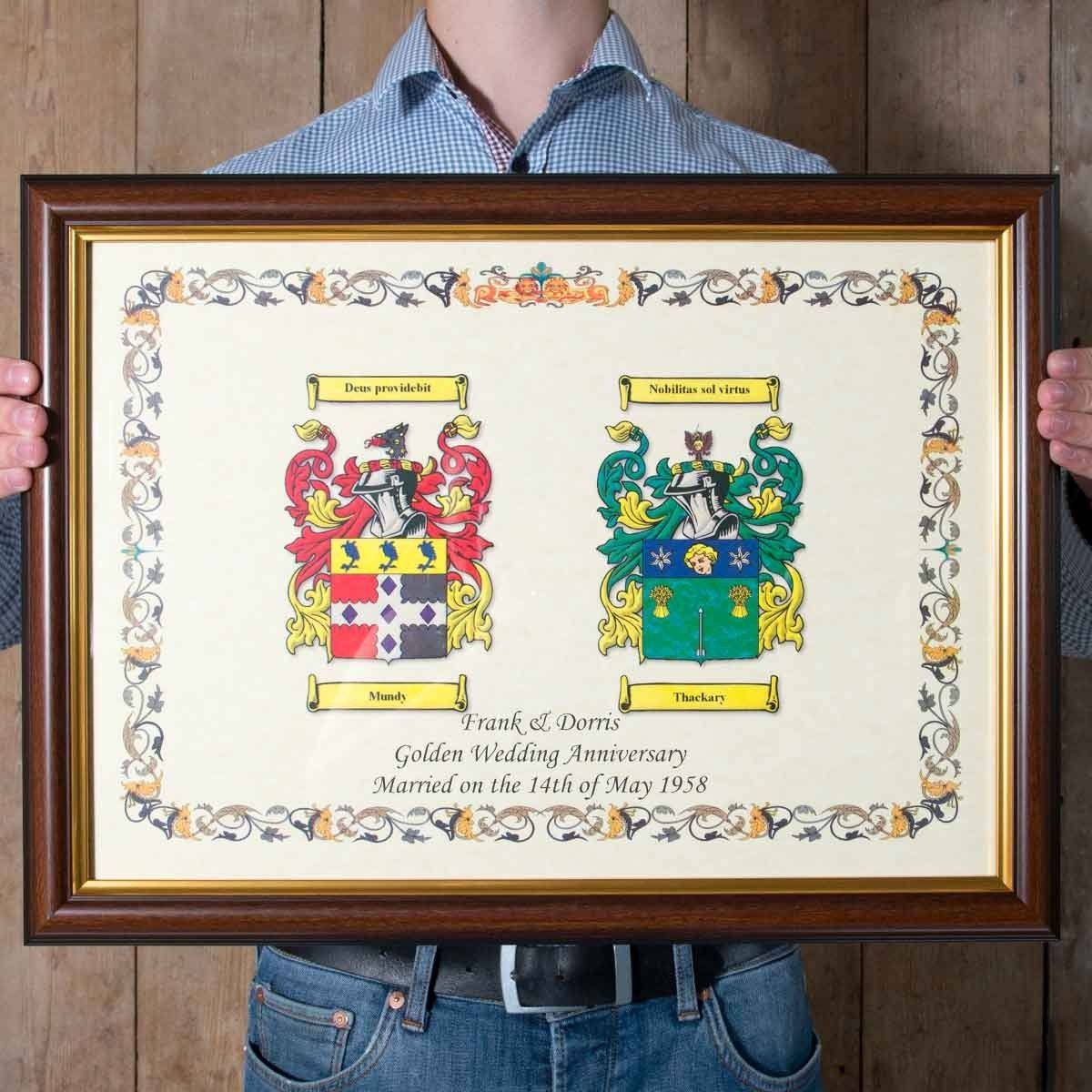 Anniversary Double Coat of Arms Coat of arms, 40th