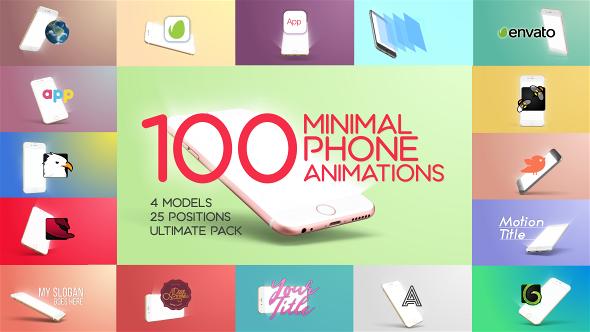 100 Minimal Phone Animations (Mobile) #Envato #Videohive