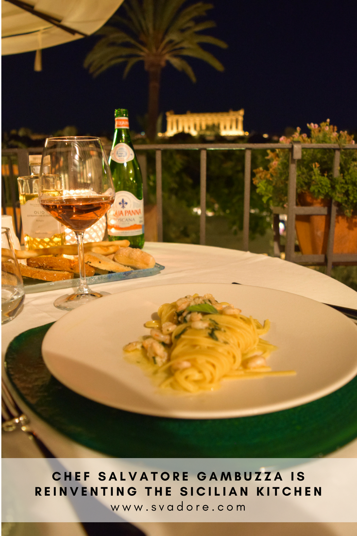 Entree Homemade Tagliatelle With Lemon Baby Shrimp At Hotel Villa Athena In His Hometown Of Agrigento Sicily Italy 5 Course Meal I Love Food Foodie Travel