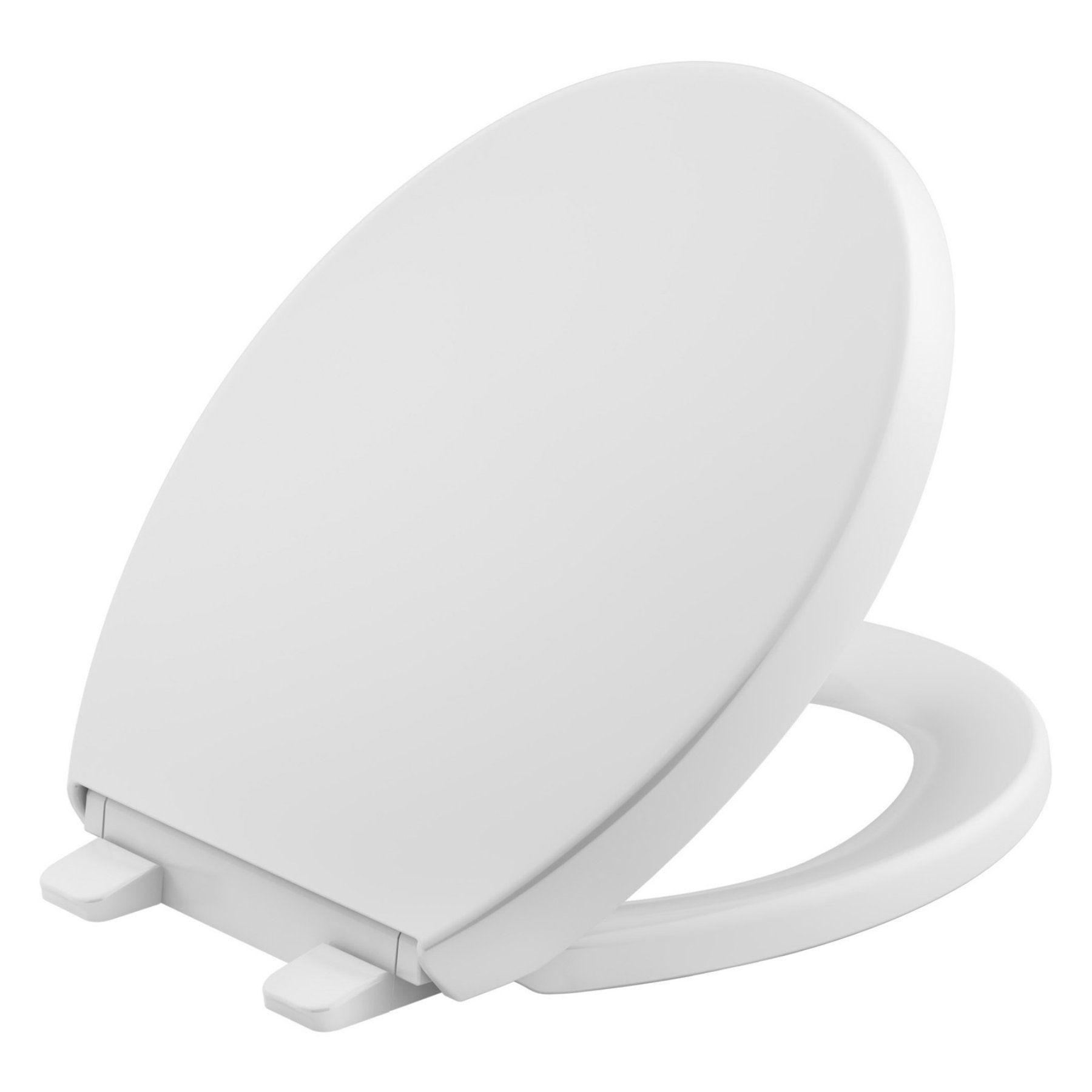 Kohler Reveal Quiet Close Round Toilet Seat With Grip Tight