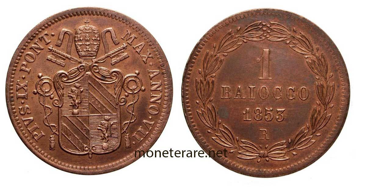 1 baiocco del 1850 | Il Baiocco | Monete, Monet e Storia