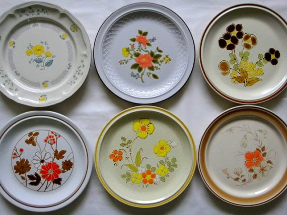 Mix \u0027n Match Vintage Dinner Plates set of 6 by TheOddBin on Etsy & Mix \u0027n Match Vintage Dinner Plates set of 6 | Dinner plate sets ...