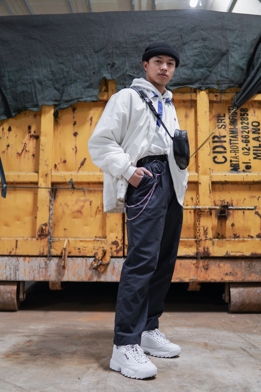 Streetwear men Fila disruptors Instagram @davinzgarciaofficial