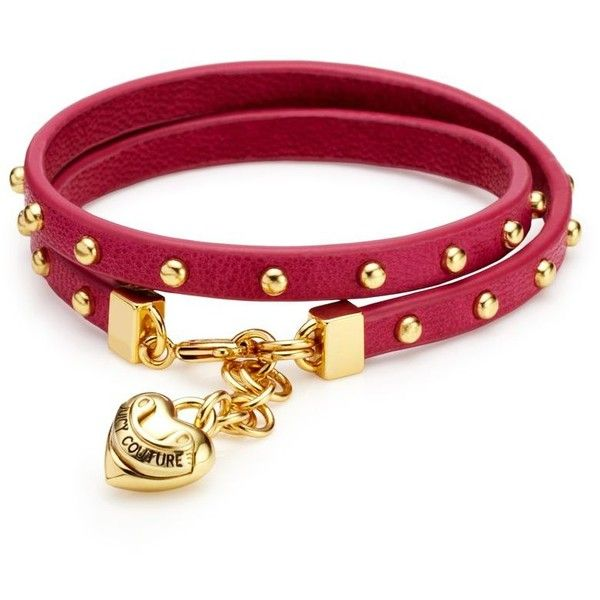 Juicy Couture Studded Wrap Leather Bracelet ($38) found on Polyvore
