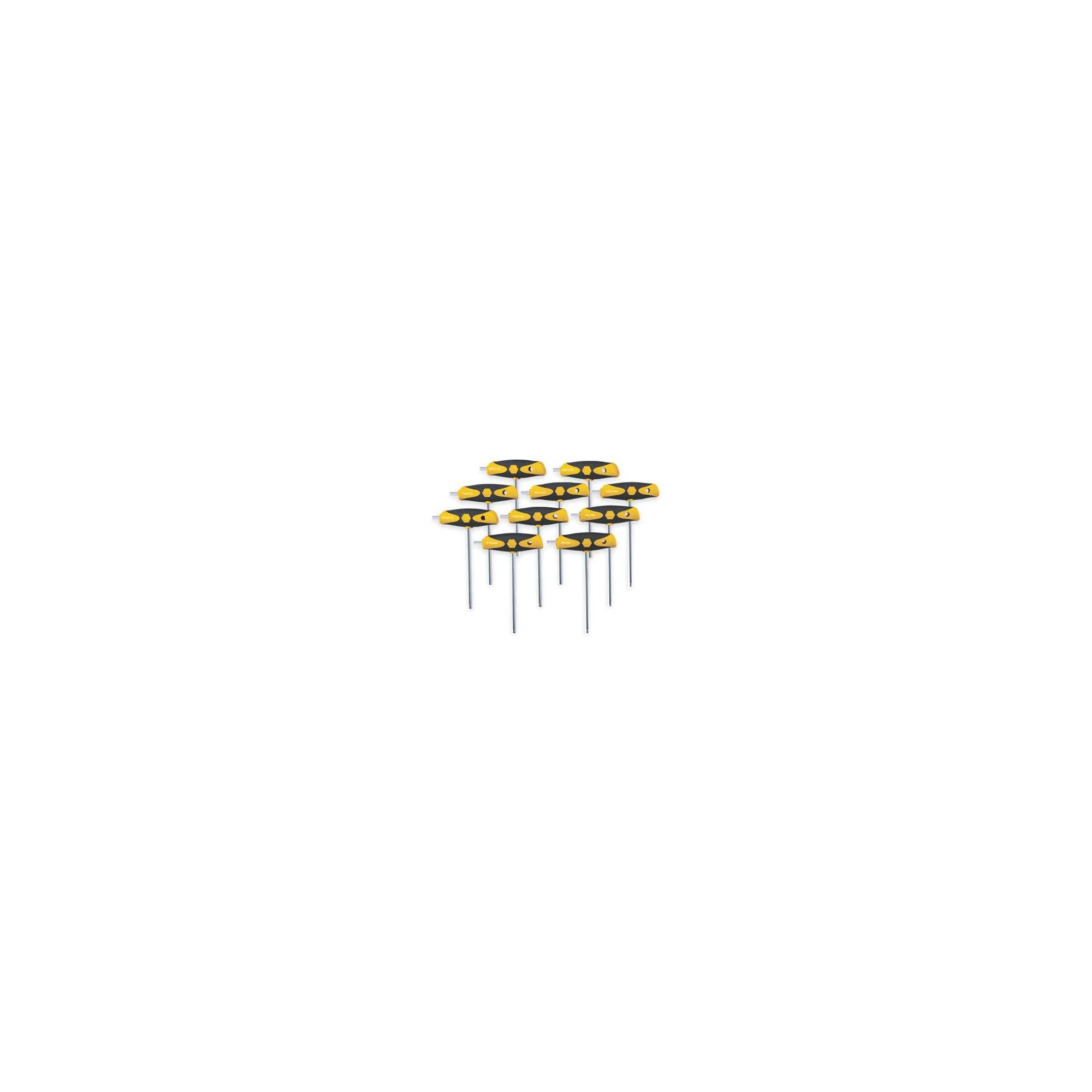 Wiha Tools 54097 10 Pc Sae Ball End Soft Grip T Handle Hex Key Set Hex Key Hex Grip