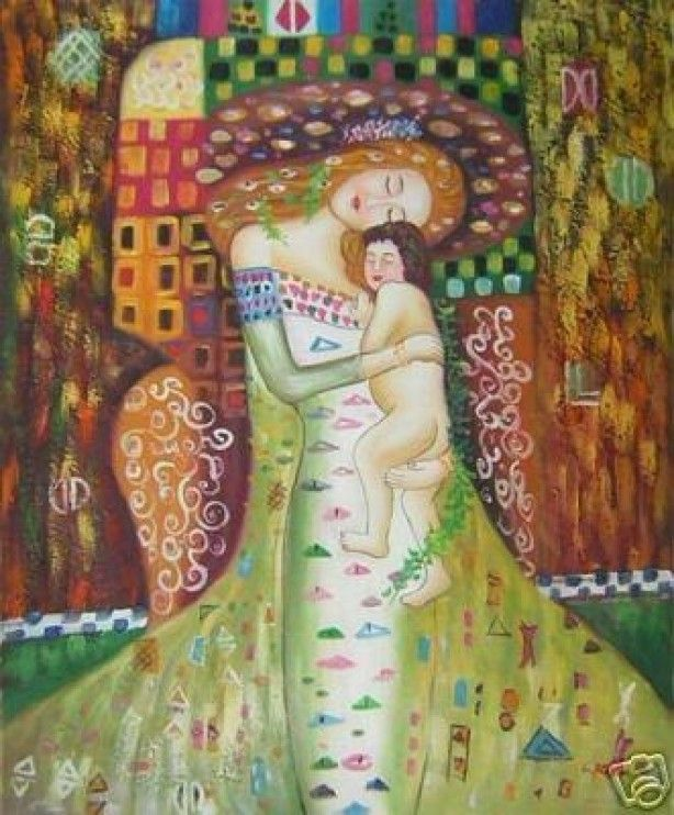Wonderbaar Art - Mother & Child, Moeder en kind (With images) | Klimt art XB-57