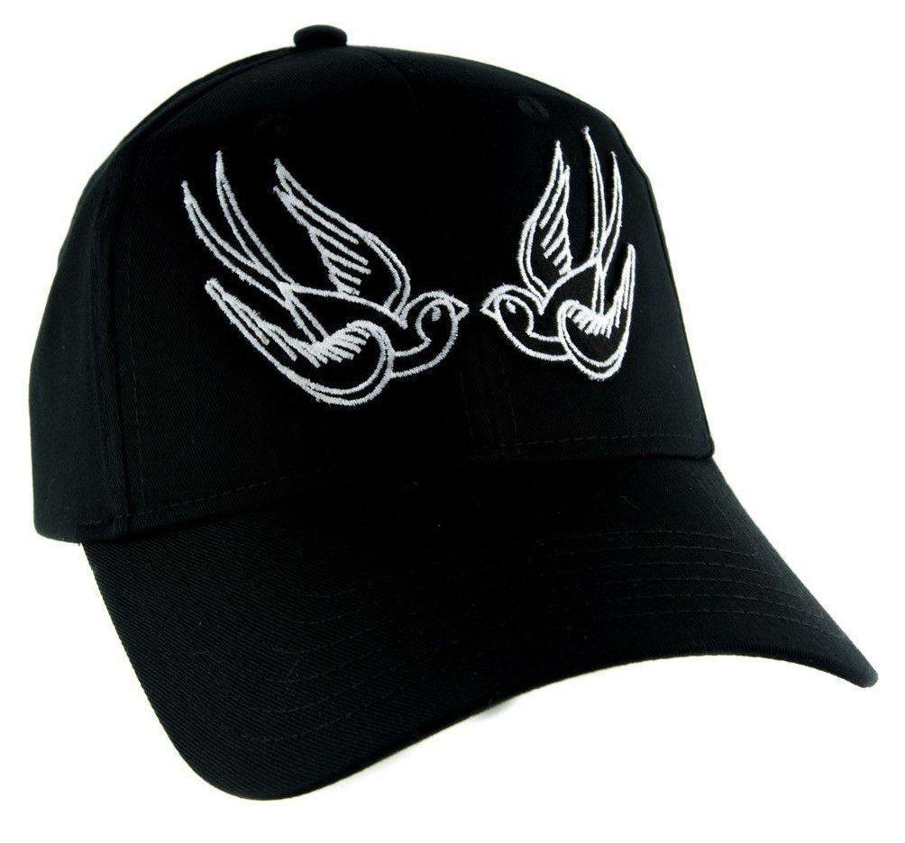 43a5ec8328c  Tattoo White Swallow Sparrow Birds Hat Baseball Cap Alternative Clothing  Rockabilly Tattoo Symbol