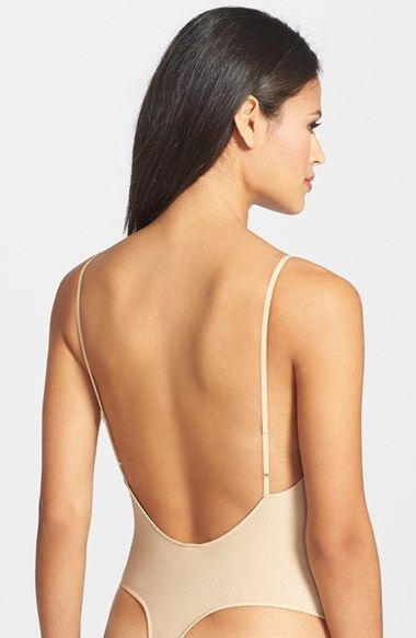 5404dab7cd Only Hearts  Second Skin  Low Back Thong Bodysuit