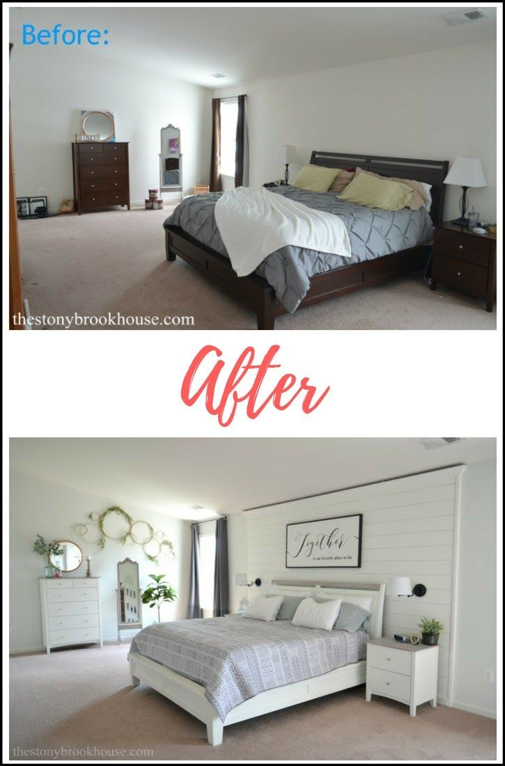 Master bedroom before and after  Master Bedroom Before u After  Itus Finished  Arts Crafts
