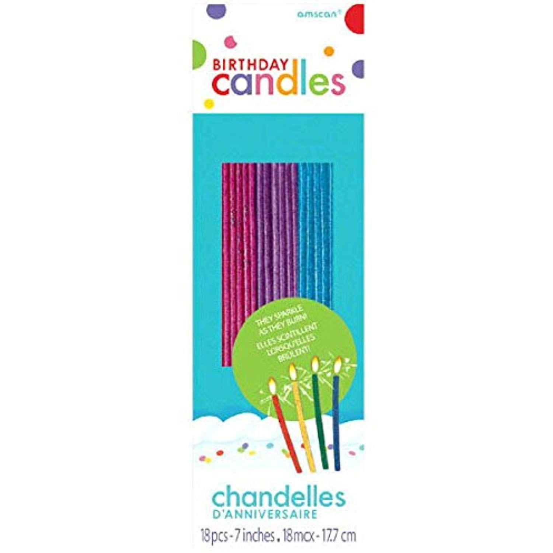 Amscan Amsdd Thin Novelty Glitter Birthday Candles