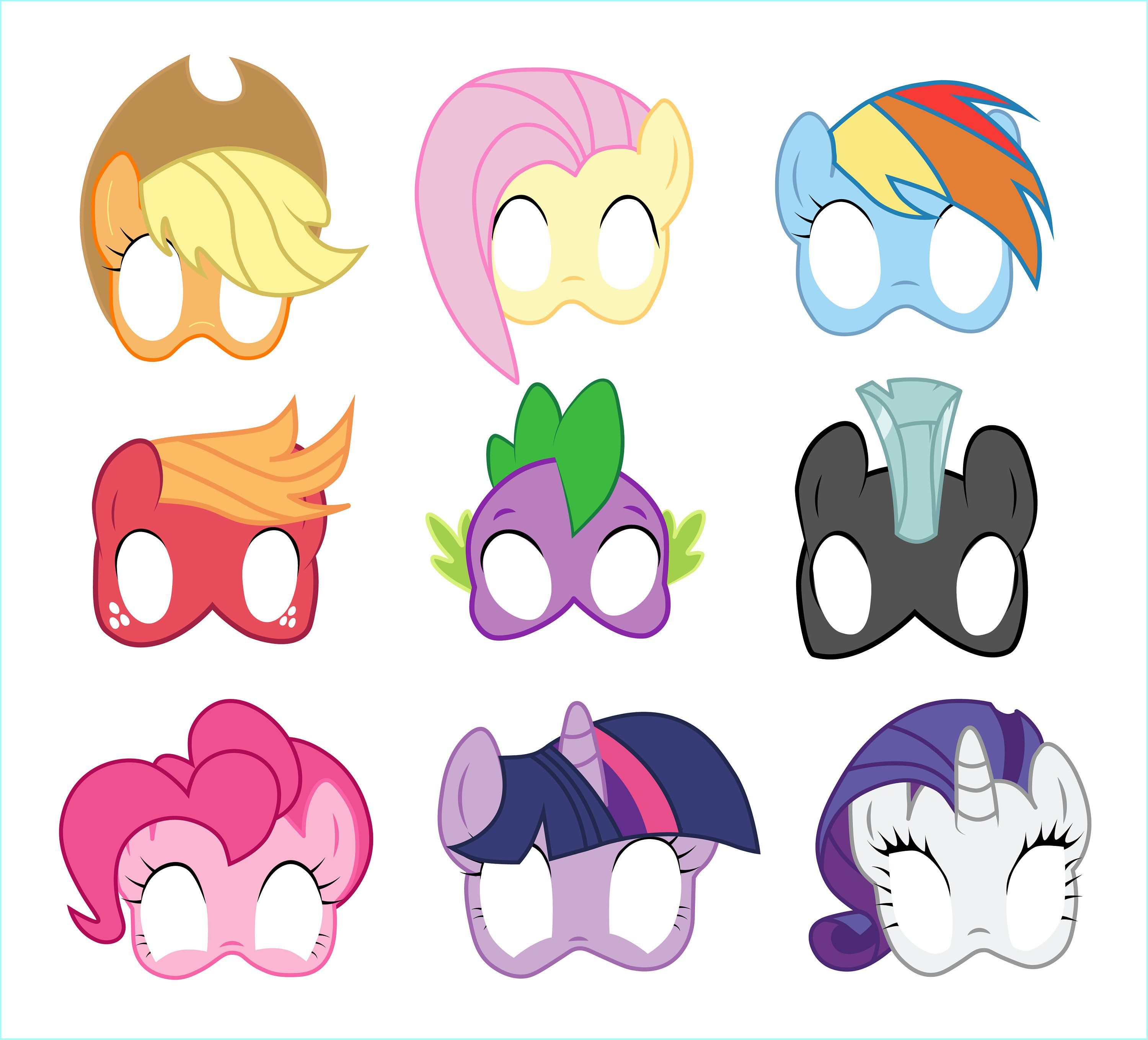 8 My Little Pony Photo Booth Props Printable My Little Pony