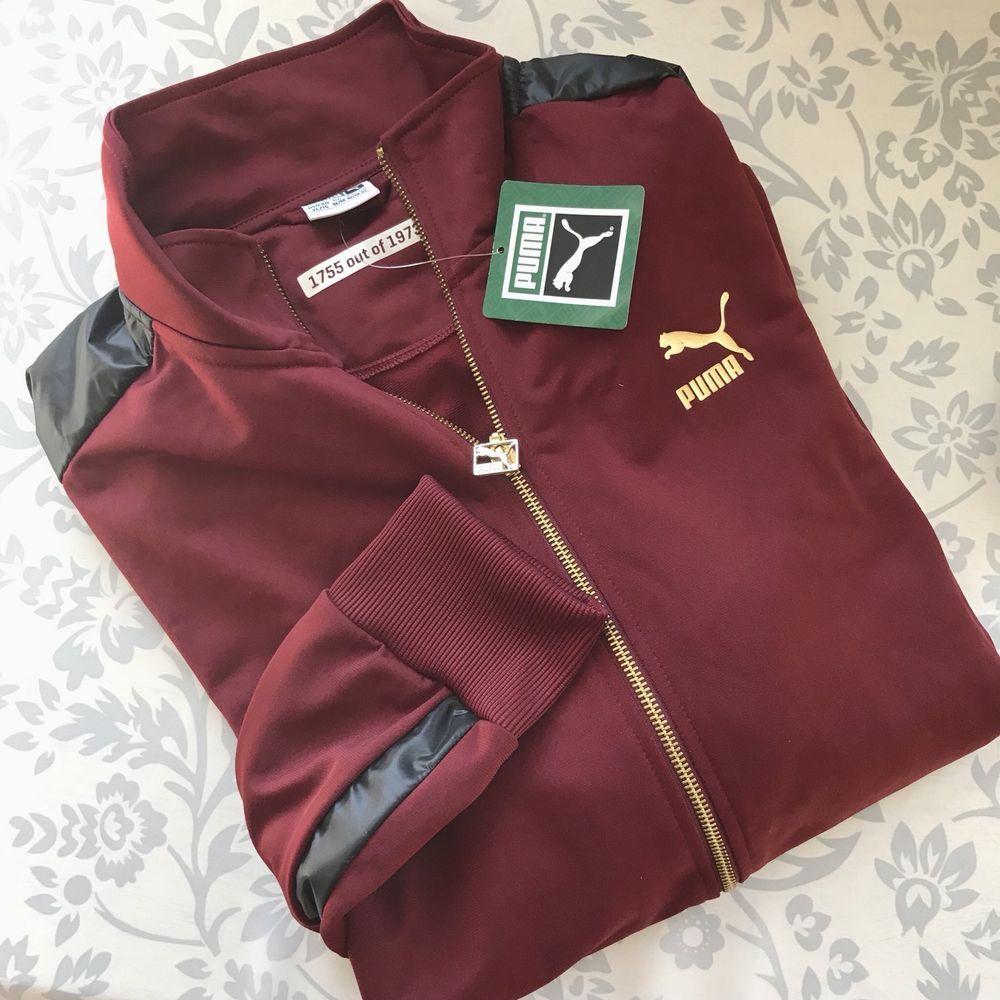 92216ceca4c2 Puma NEW men Clyde RR Track Jacket XL Limited Edition Cabernet full zip  gold  PUMA  TracksuitsSweats