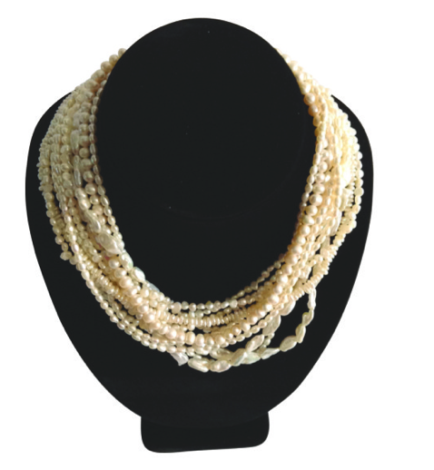Pearl Necklace. Made with Grad A Pearls