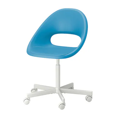 Eldberget Blyskar Swivel Chair Blue White Ikea In 2020 Swivel Chair Ikea White Swivel Chairs