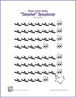 Surprise Symphony Free Printable Listening Map Not Sure I Like