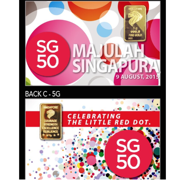 Sg50 Premium Card With 5g Pure Gold Bar On Carousell Pure Gold