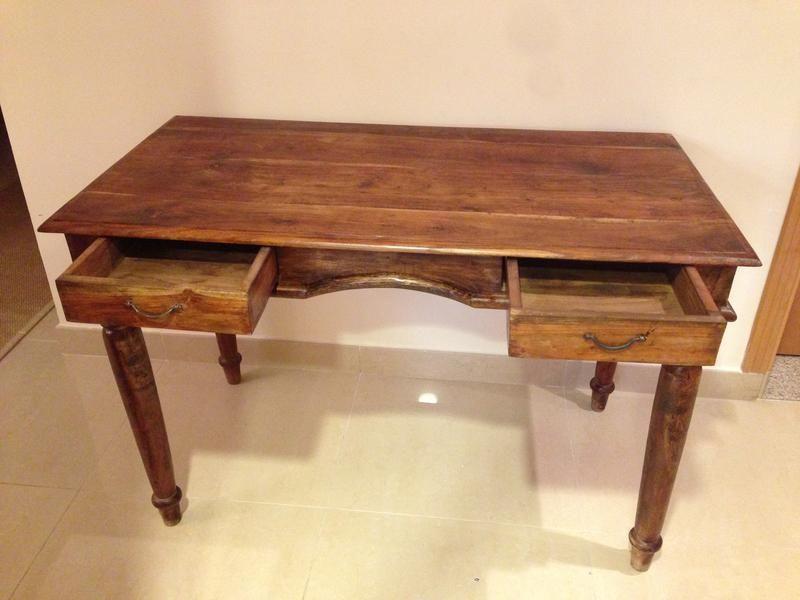 Dubizzle Dubai Tables Marina Home Interiors Wooden Writing Desk Mission Style Desk Wooden Writing Desk Mission Style