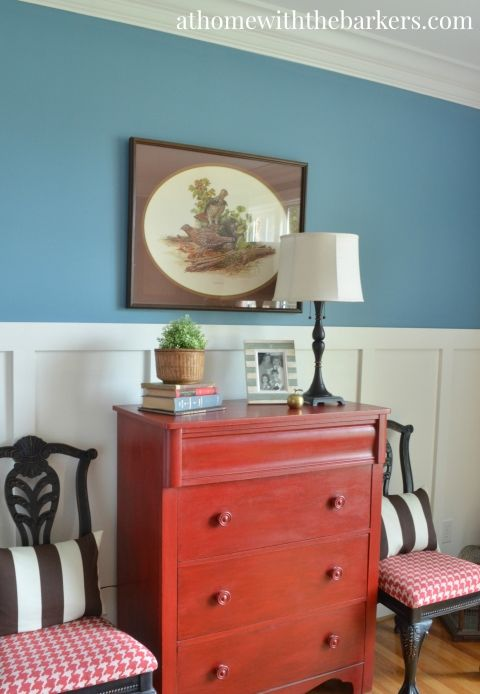 Dresser Dining Room Makeover Red