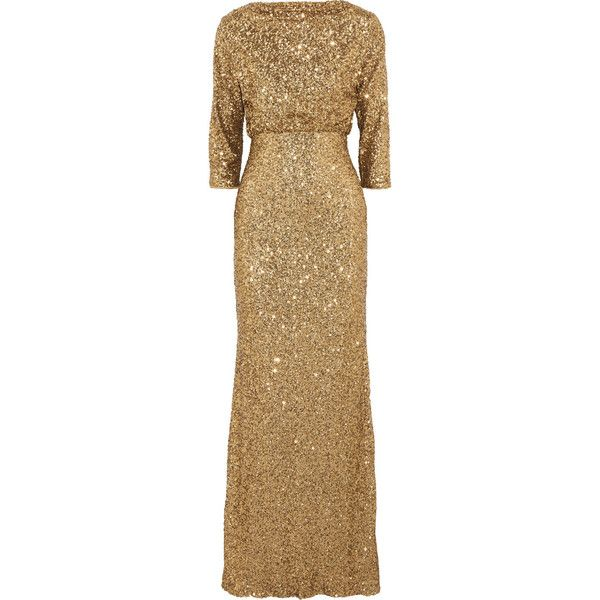 Badgley Mischka Sequined tulle gown (11 710 UAH) ❤ liked on ...