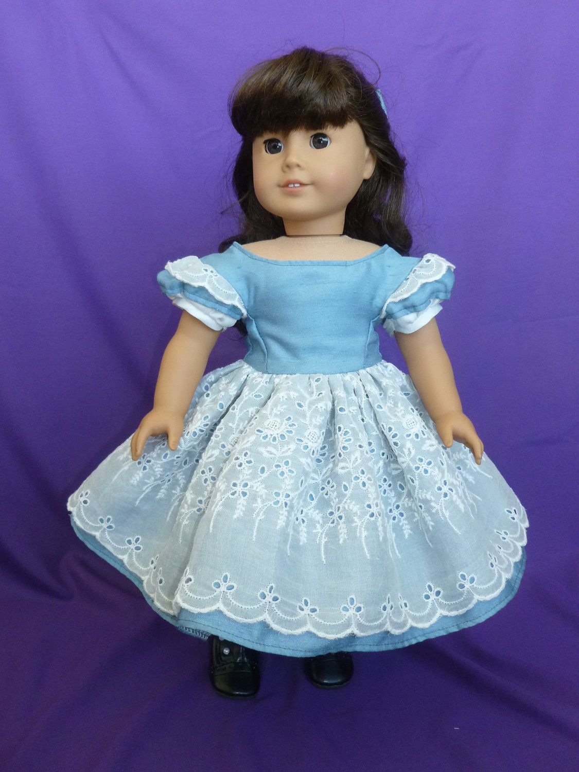 mid-1800\'s Party Dress in Blue for Cecile or Marie Grace. $47.95 ...