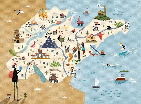 Map Of Shandong Province China Yao Yu Miss K