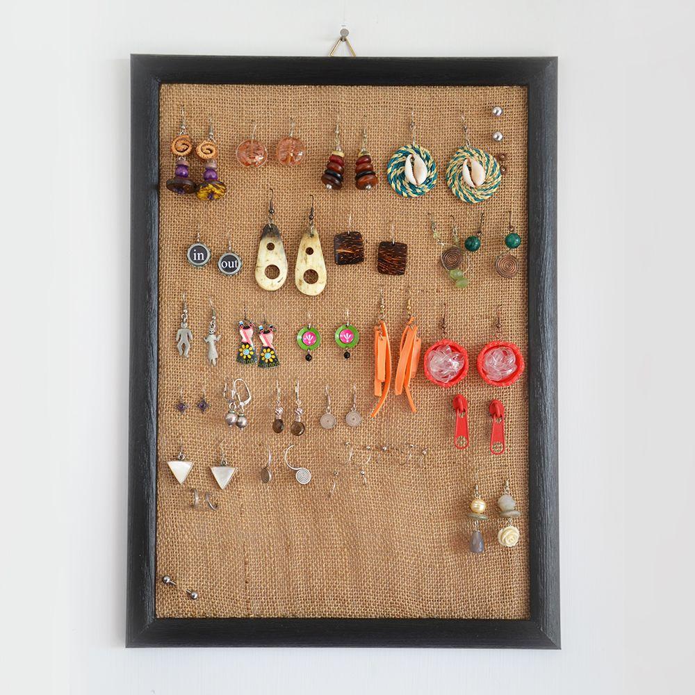 Idee Per Porta Orecchini quadro porta orecchini | portagioie fai da te, espositore