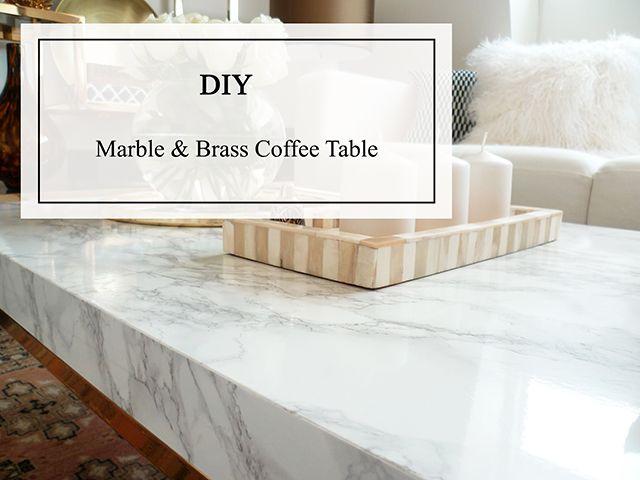 Diy marble coffee table