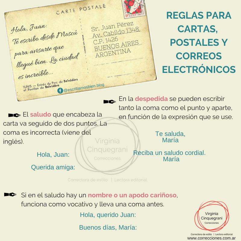 Reglas Para Escribir Cartas Postales Y Correos Electronicos Cartas Postal Ortografia Gramatica Corrector Espanol Consejos Sintaxis Cartas Ortografia