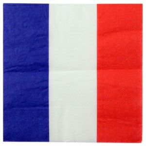 Serviette De Table France Drapeau Francais Les 20 Serviette De Table Serviettes Serviette Papier