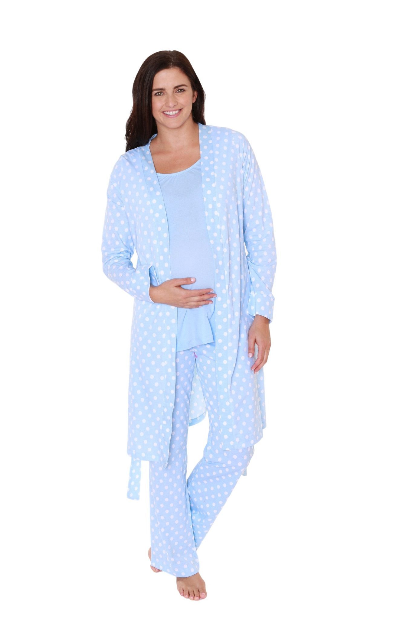 6a0017cee802 Nicole Maternity Nursing Pajamas   Matching Maternity Delivery Nursing Robe