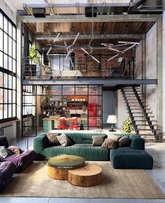 Loft Inspiration : Golovach Tatiana y Andrey Kot #loft #interiordesign #inneneinrichtung #treppe #loftdesign