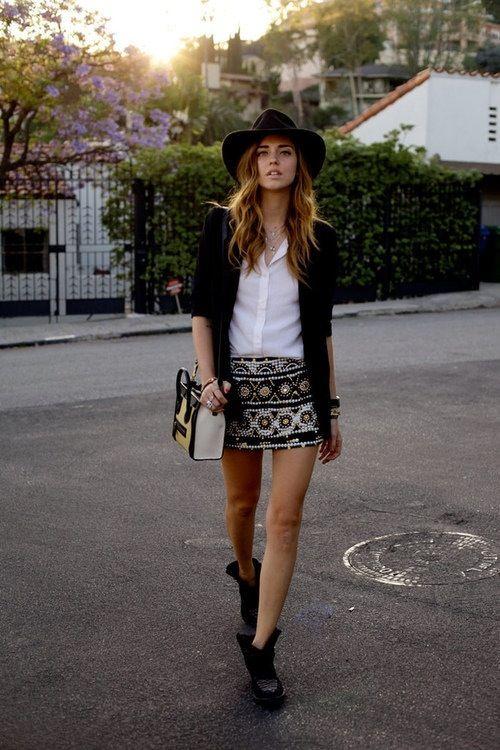 Love her skirt!