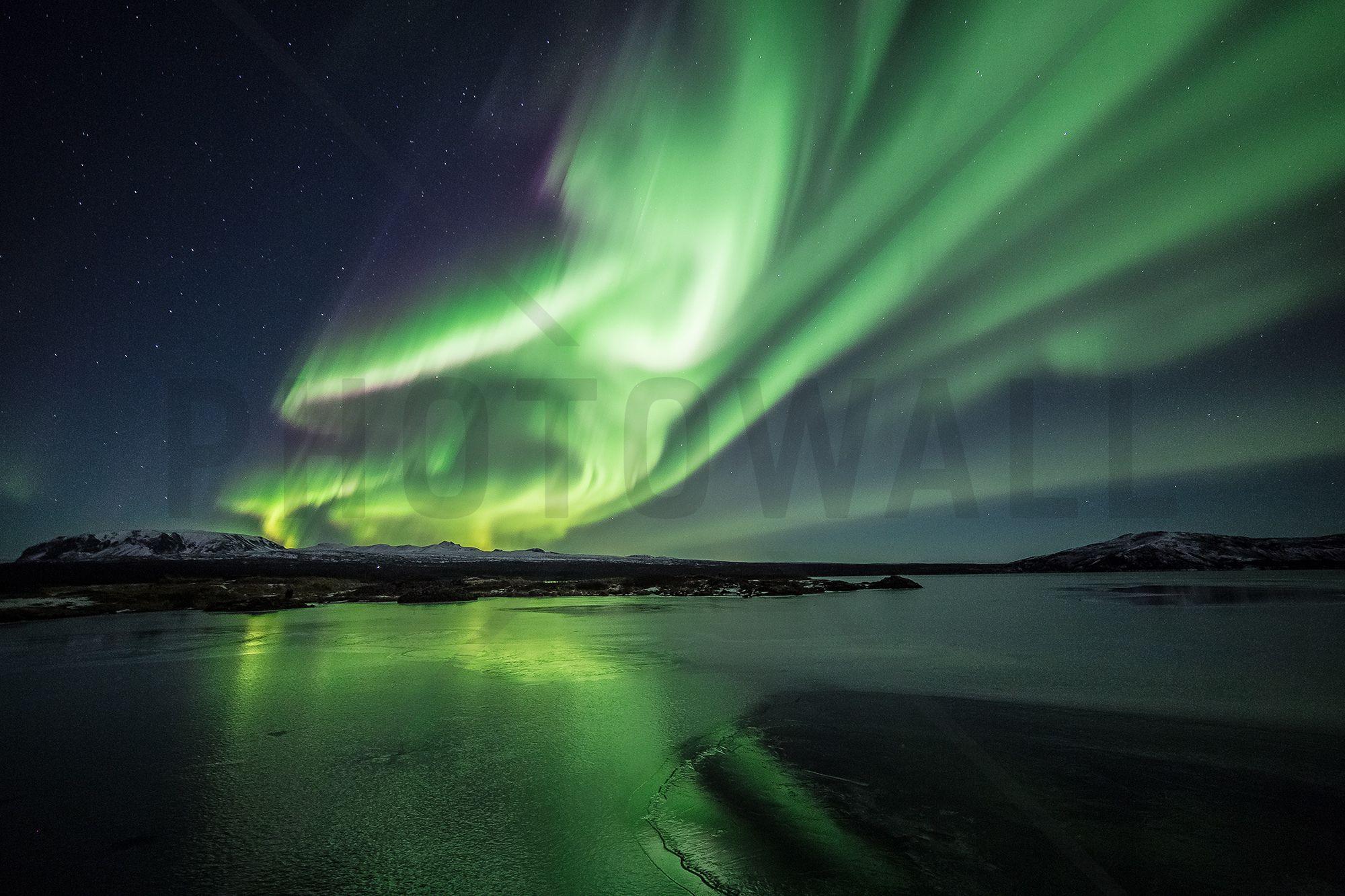 Enchanting Aurora Borealis Wall Mural & Photo Wallpaper