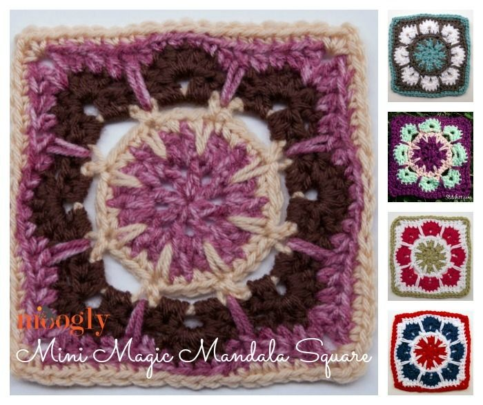 Mini Magic Mandala Crochet Granny Square   Patrones de mantas ...
