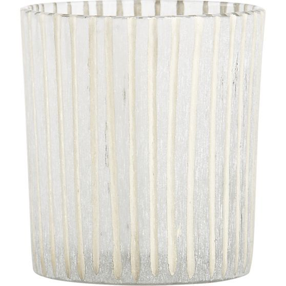 Minx Striped Candleholder in Candleholders | Crate and Barrel