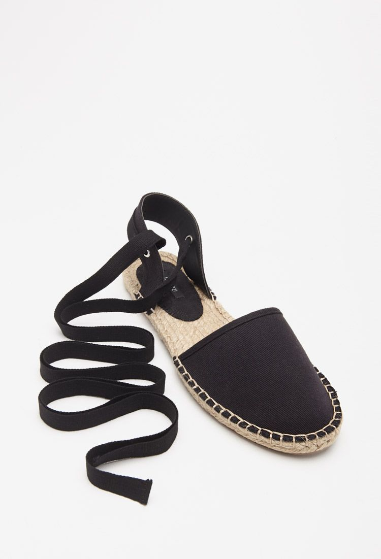 9cee12d20737 Lace-Up Espadrille Flats | Forever 21 - | Sandals for sabrina | Lace ...