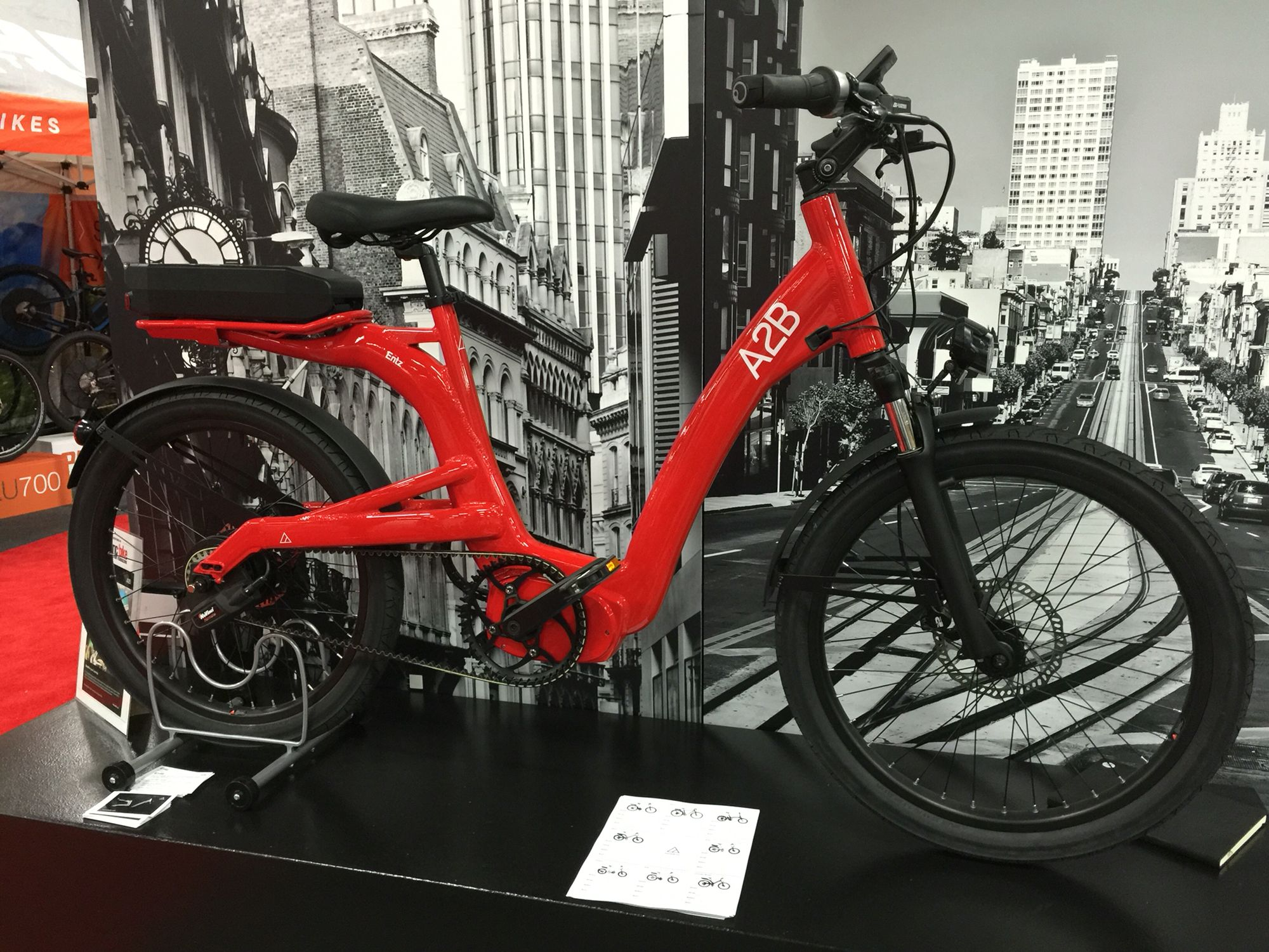 The new A2B North America Entz electric bike with Continental mid drive, belt, and NuVinci Harmony. More: http://www.wearea2b.com/us