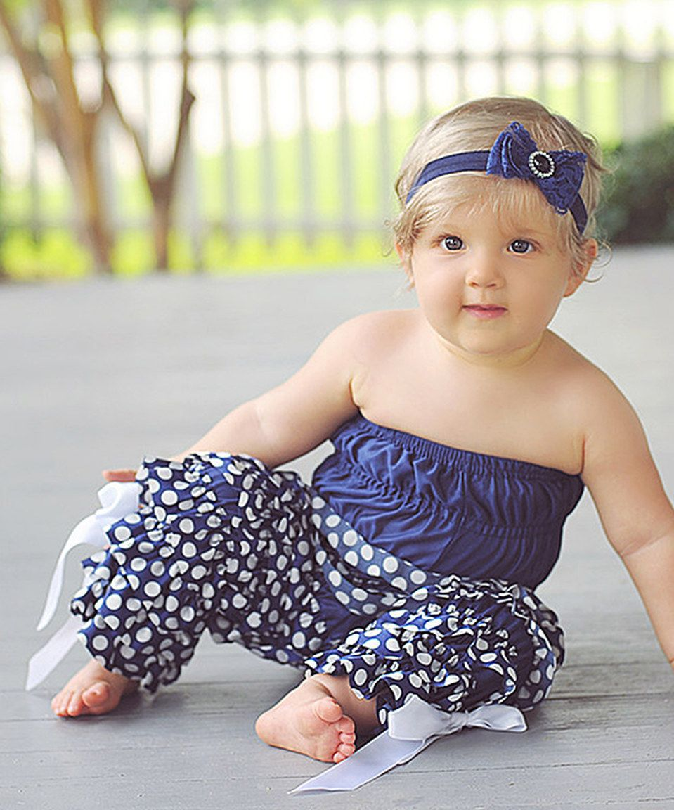 b81ad99ac35c Another great find on  zulily! Whitney Elizabeth Navy Polka Dot Ruffled  Jumpsuit - Infant   Toddler by Whitney Elizabeth  zulilyfinds
