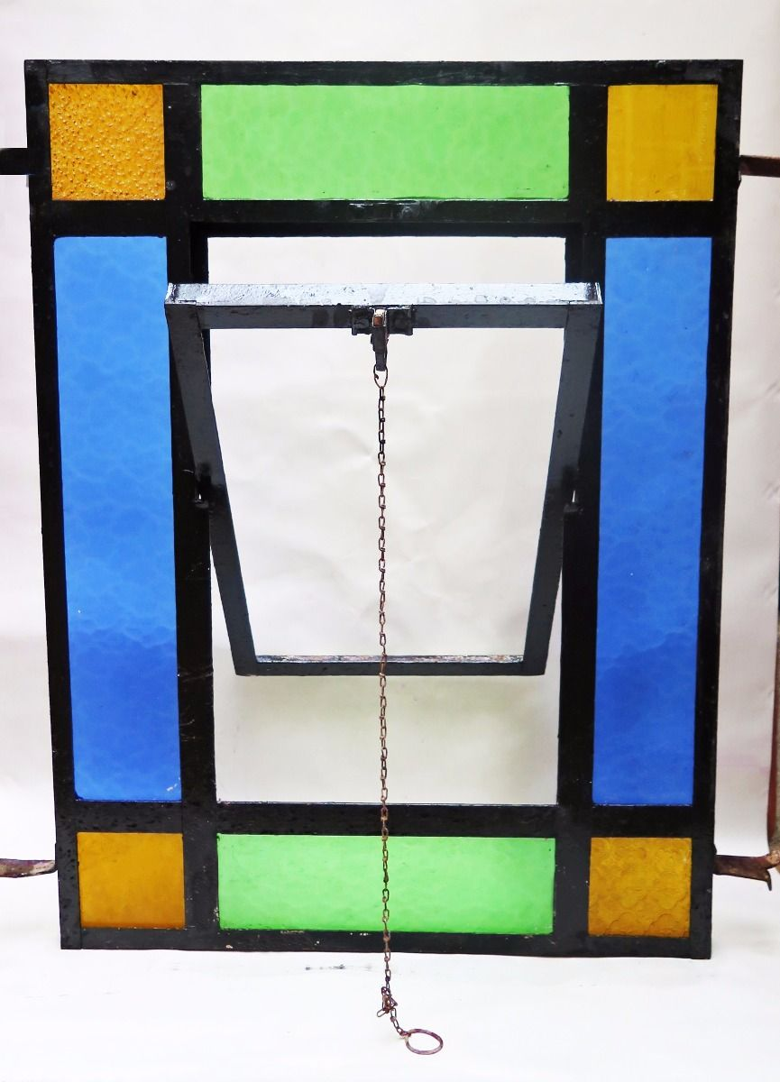 Bright Bonito Antiguo Marco De Madera Para Foto Vidrio Con Imagen Paisaje Castillo Espejos Arte Y Antigüedades