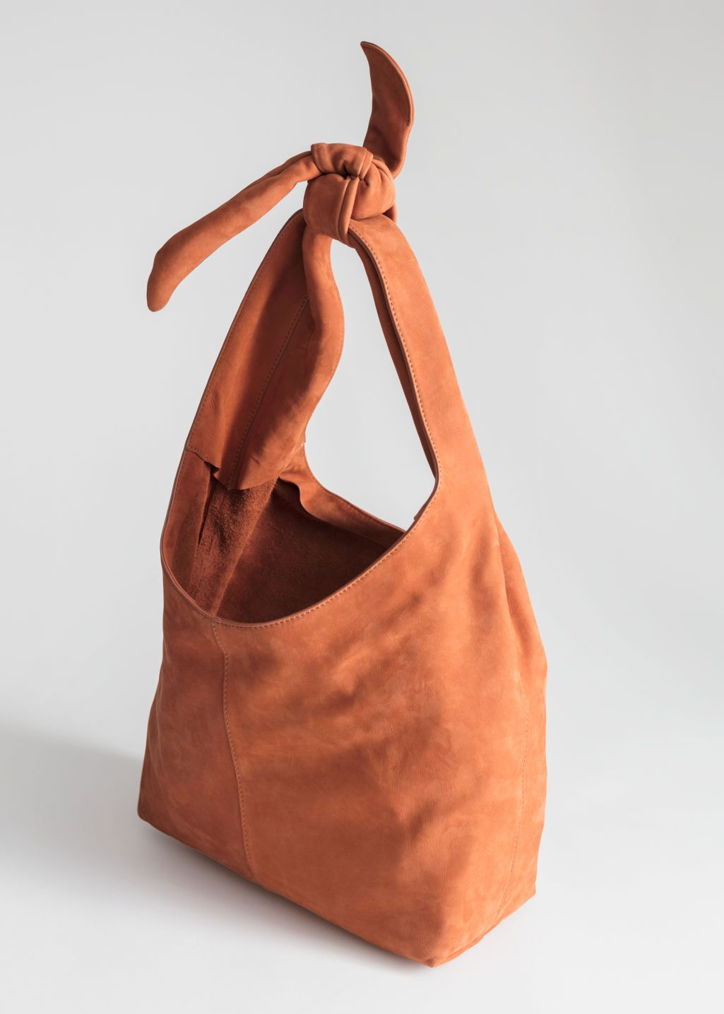 Download Soft Suede Tie Up Bag Bags Hobo Tote Bag Soft Suede