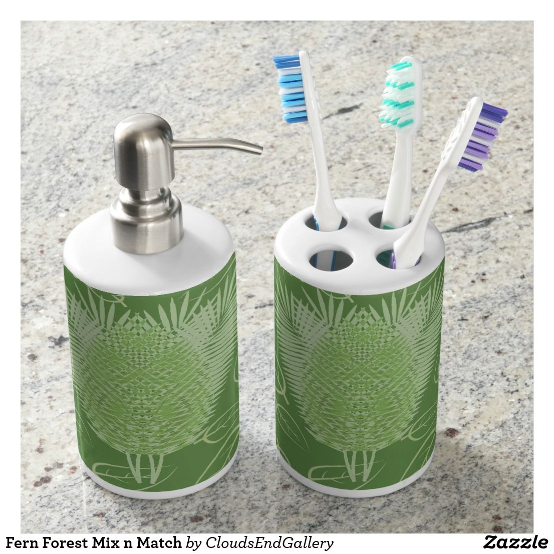 Fern Forest Mix n Match Bath Set | Matching Bathroom Sets ...