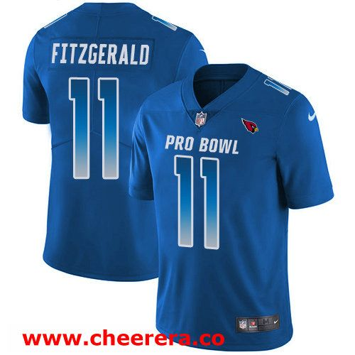 ... usa 11 larry fitzgerald royal blue nike nfl game mens jersey arizona  cardinals 2018 pro bowl e6c60917e