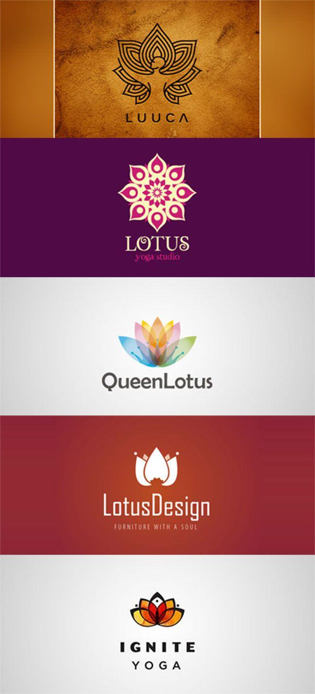 40 Beautiful Lotus Logo Designs To Inspire You Cip Pinterest