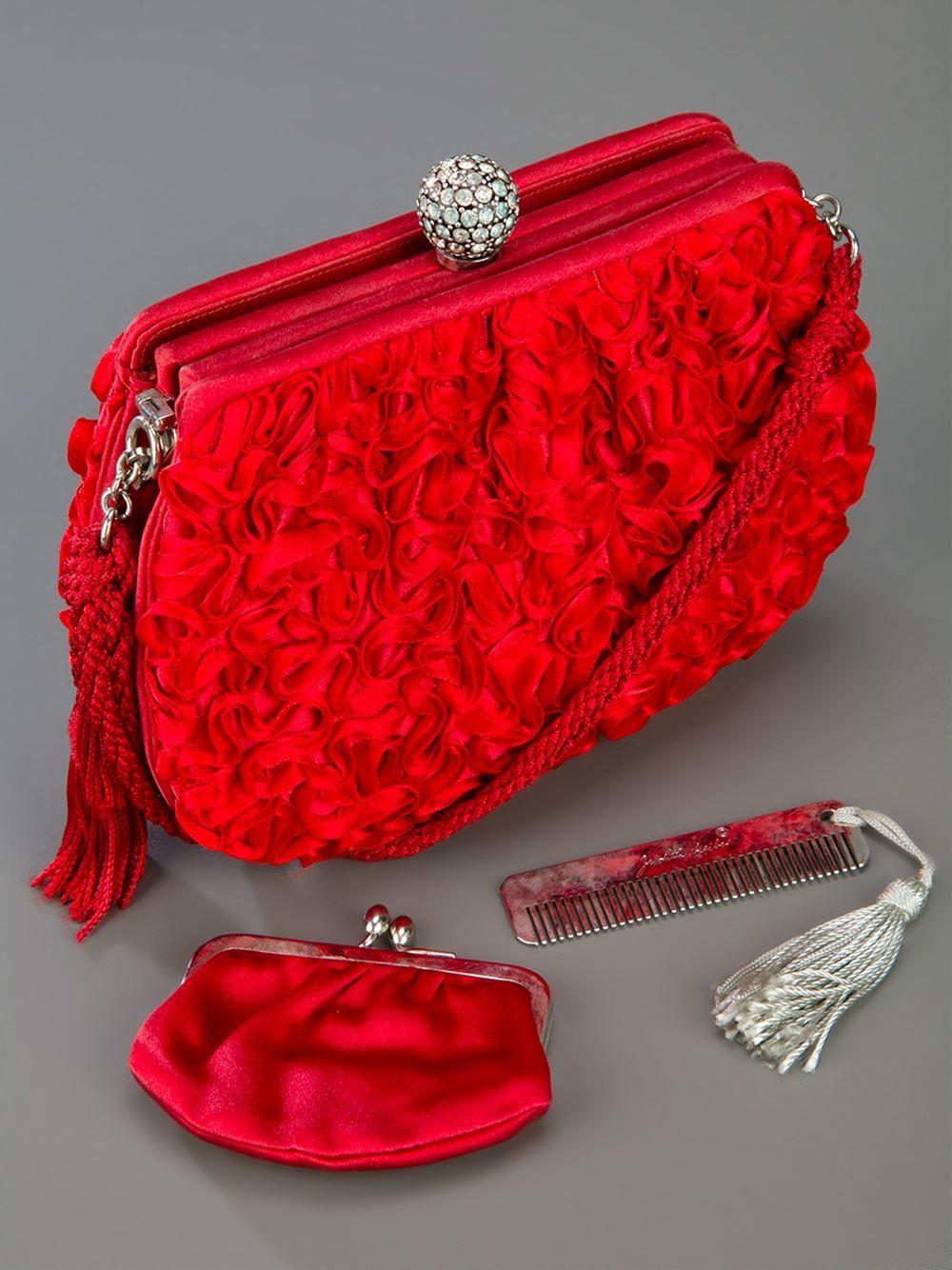 866fb1f28 tas merah | Sapatos e bolsas | Judith leiber, Fashion e Vintage