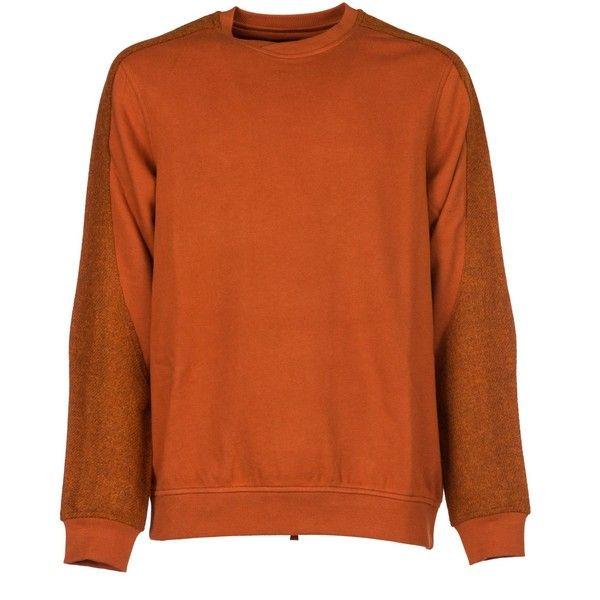 maharishi-fleece (8.105 RUB) ❤ liked on Polyvore featuring tops and rust