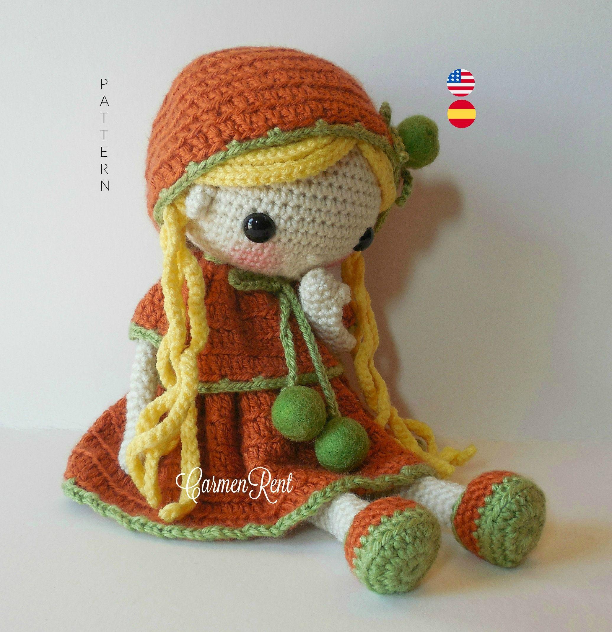 How to add Yarn Hair to Amigurumi Crochet Dolls with Hair Cap ... | 2142x2072