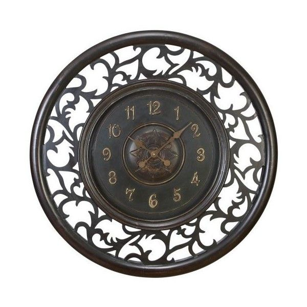 Aspire Home Accents 35015 36 Meval Wall Clock Dark Antique Brown 172